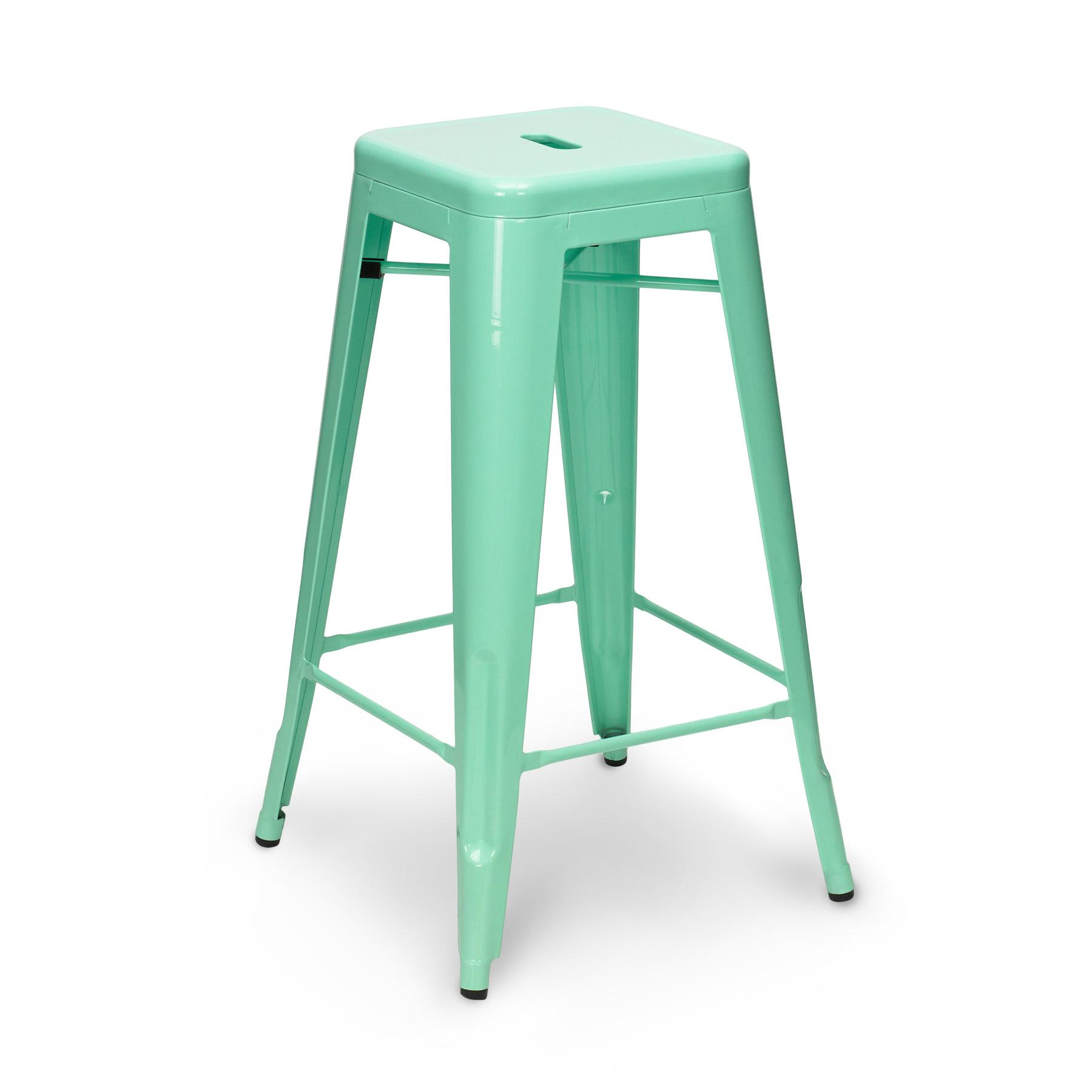 peppermint tolix stool 65cm 75cm. Black Bedroom Furniture Sets. Home Design Ideas