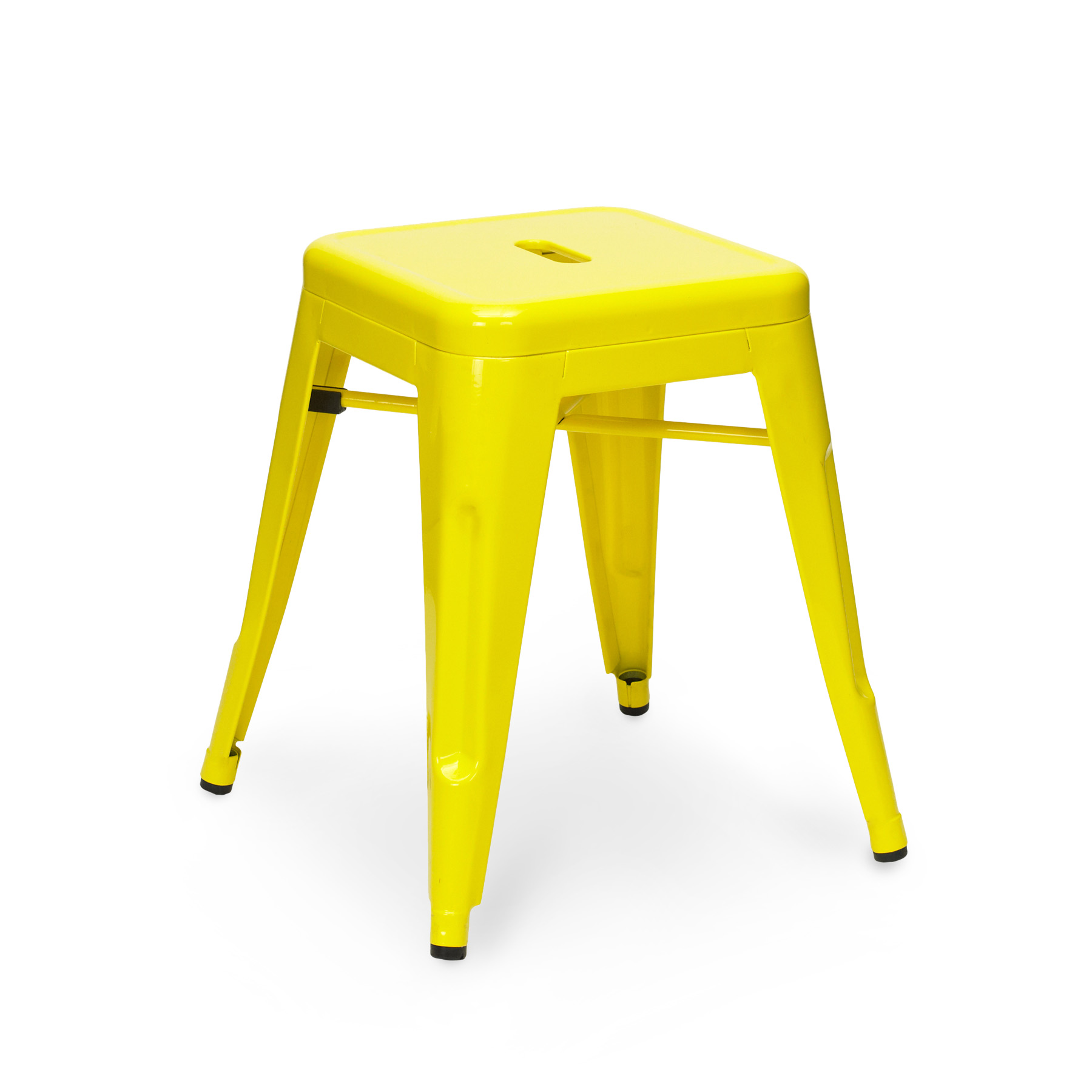 yellow tolix stool 45cm