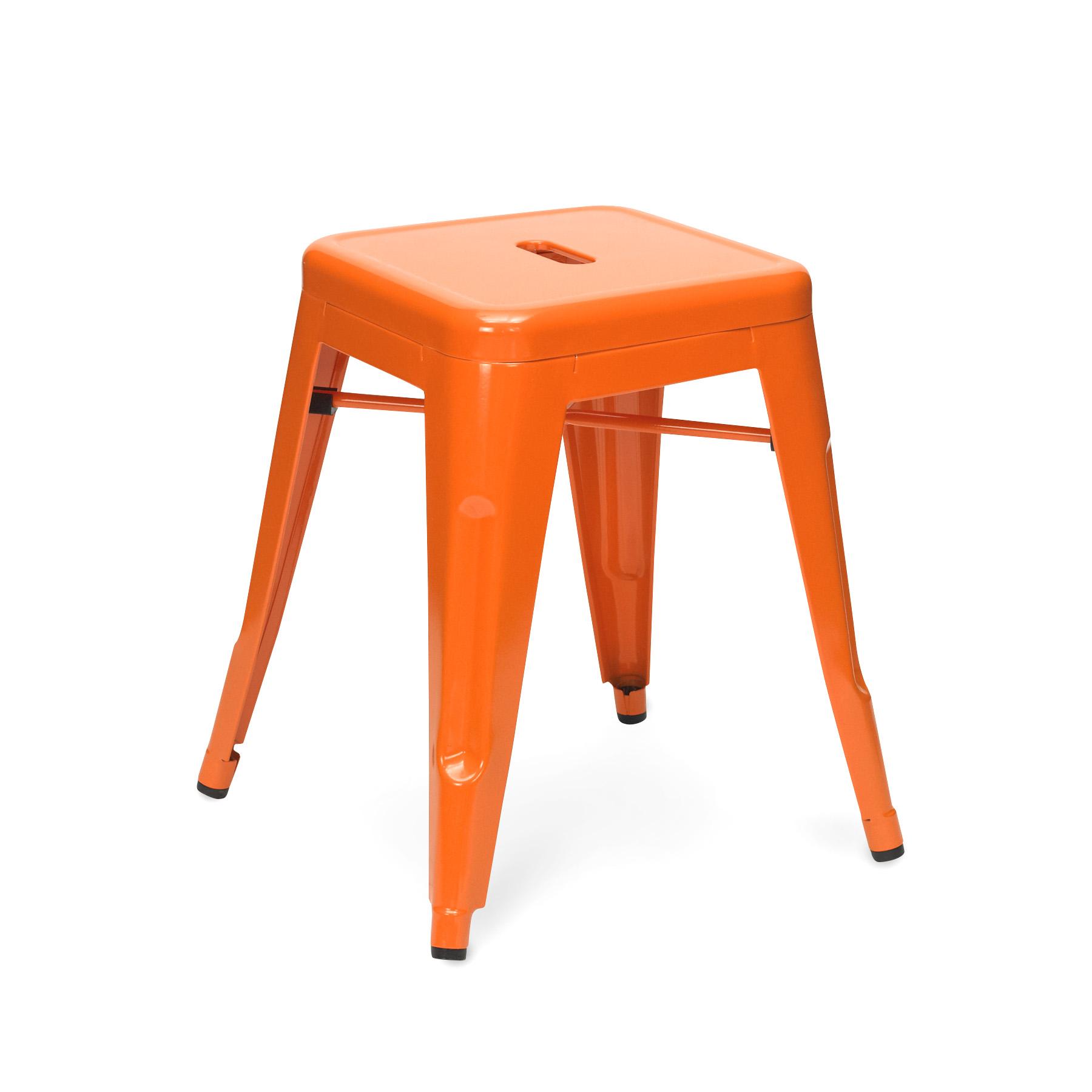 Orange Tolix Stool 45cm