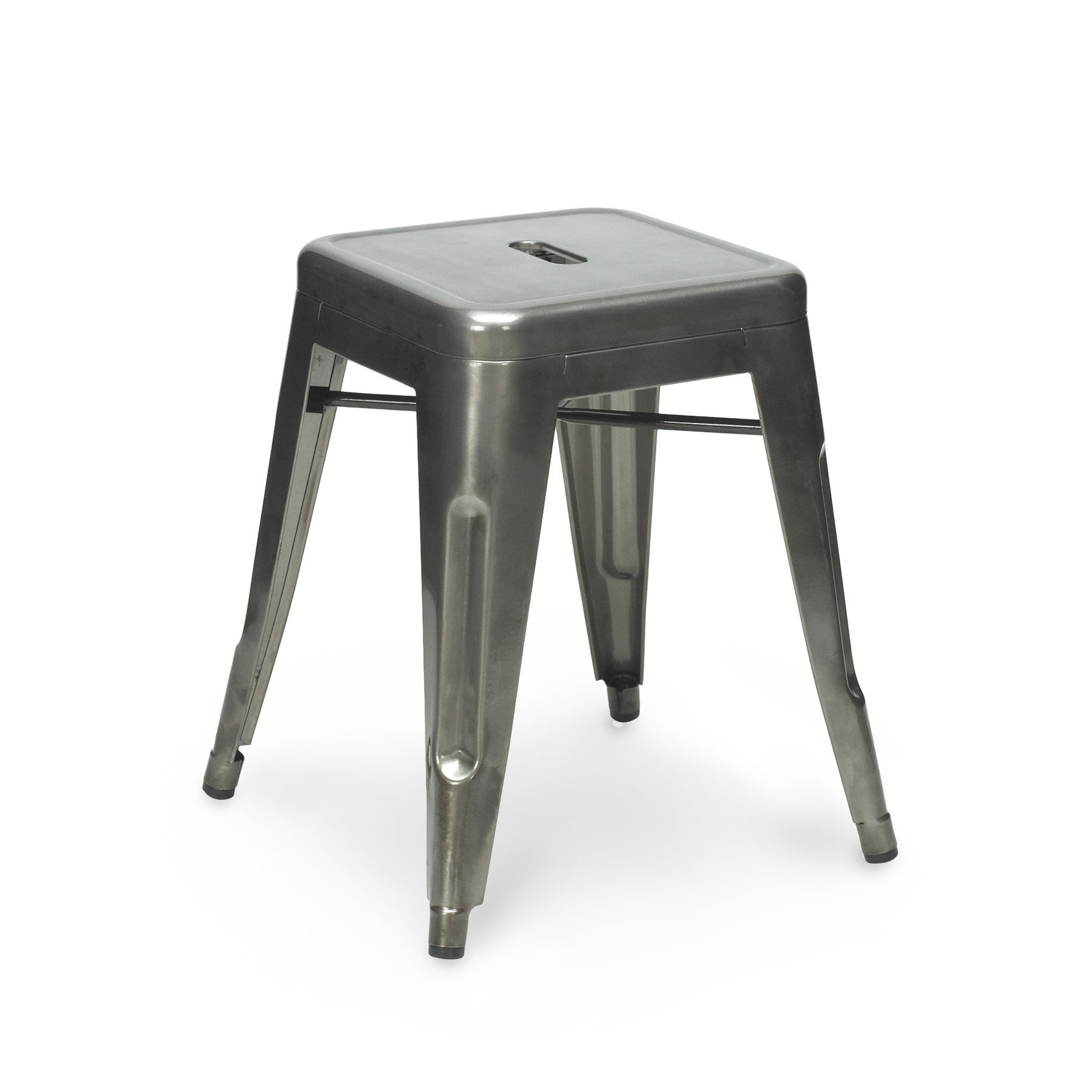 gun metal tolix stool 45cm. Black Bedroom Furniture Sets. Home Design Ideas