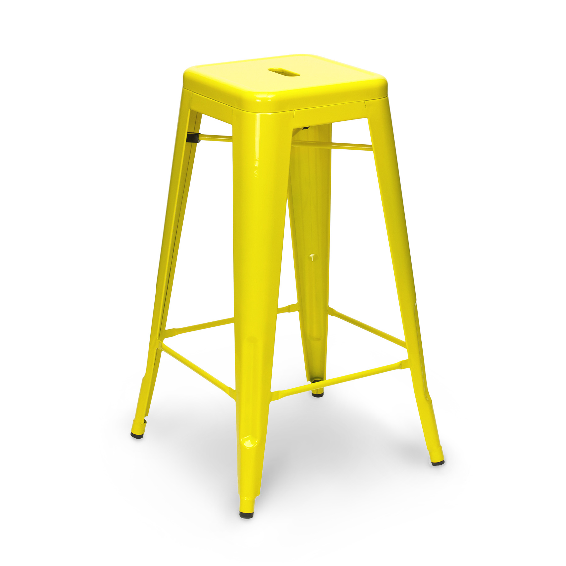 Yellow Tolix Stool 65cm75cm