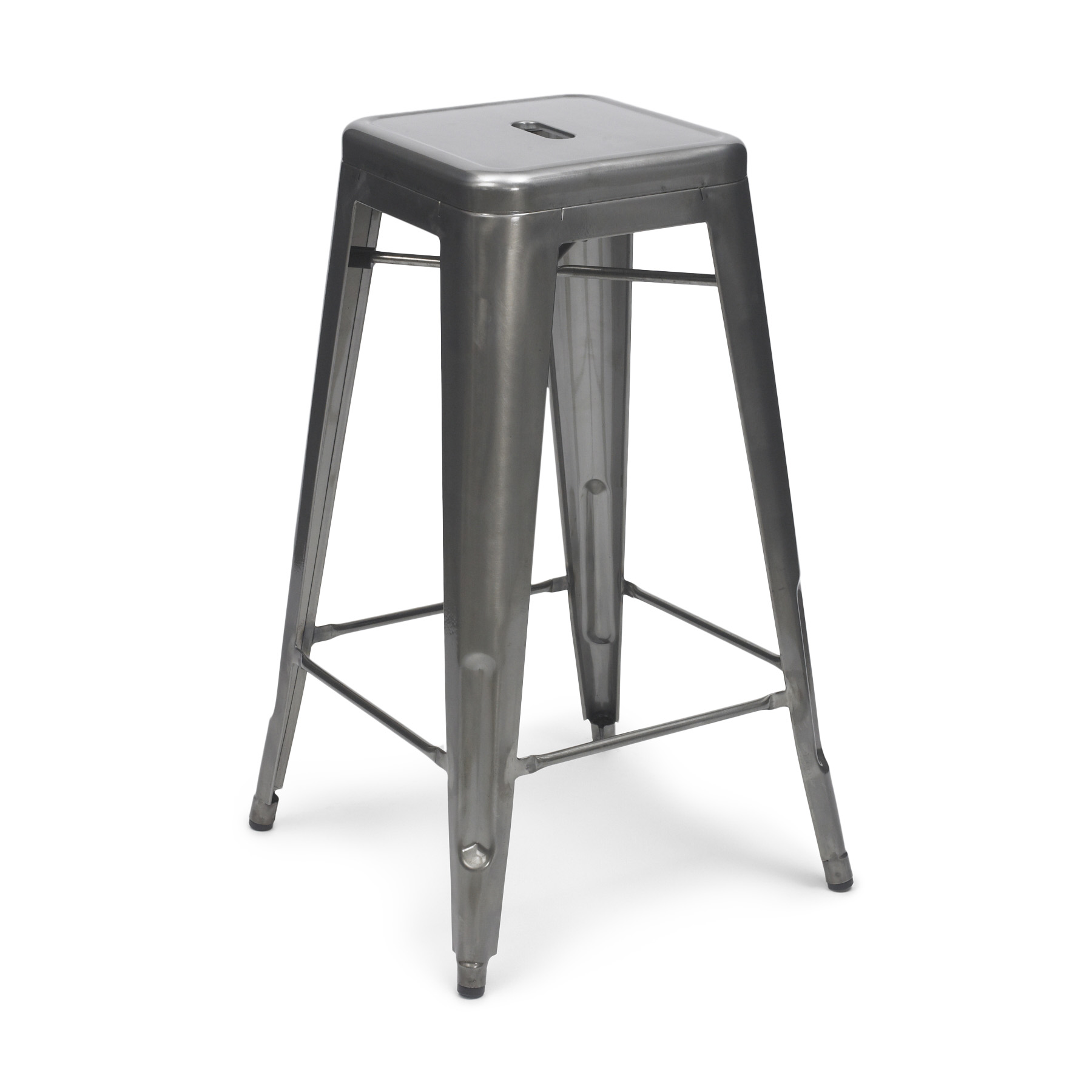 gun metal tolix stool 65cm 75cm. Black Bedroom Furniture Sets. Home Design Ideas